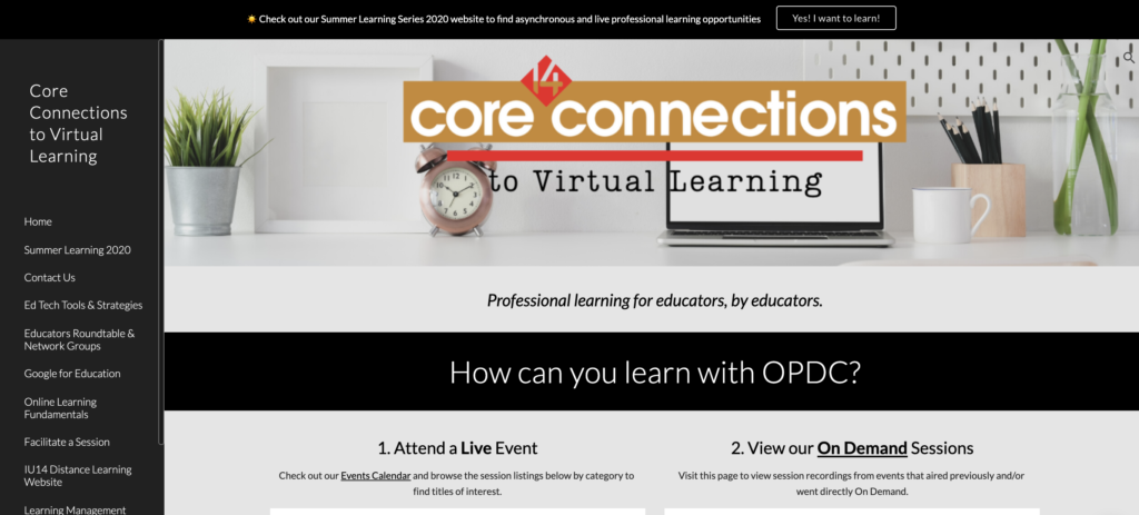 Core Connections website screenshot